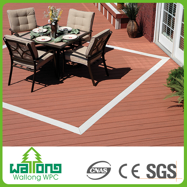 Wholesale china factory price composite outdoor flooring wpc hollow arab tiles