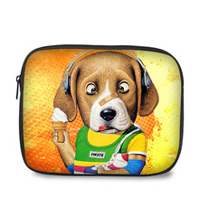 10 Inch stylish lovely dog cartoon print easy to carry shockproof tablet pouch