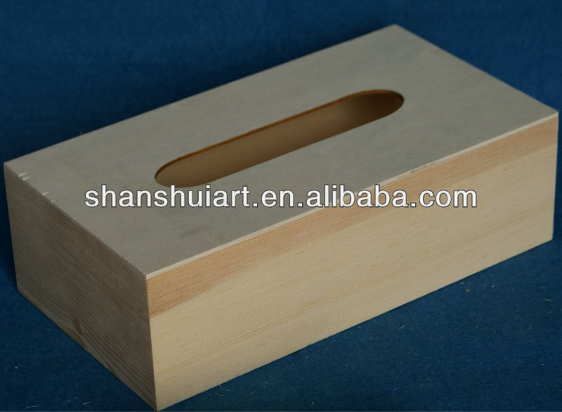 Customized size wooden tissue box
