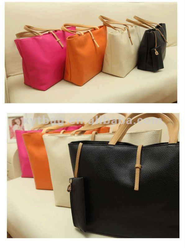 Different colors bag tote bag for women