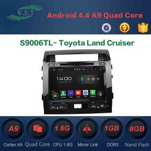 Quadcore Android car radio for Toyota Land Cruiser android 4.4 car dvd gps with 3G,wifi,1G RAM,16 GB Nand,1080P
