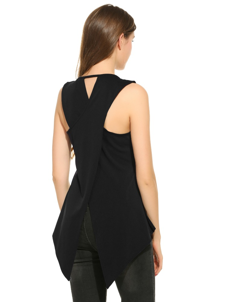 Women Casual Sleeveless <strong>O</strong> Neck Solid Slim Tank Top Vest