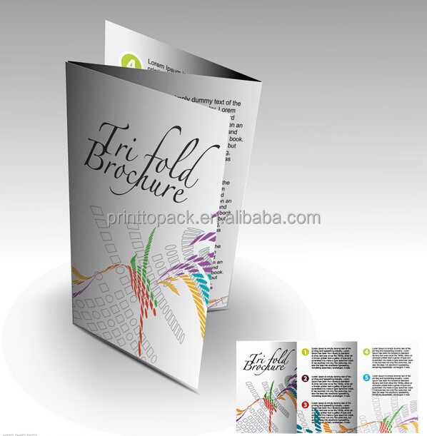 Printing Tri-fold Brochure, Custom Brochure Printing Service with good quality