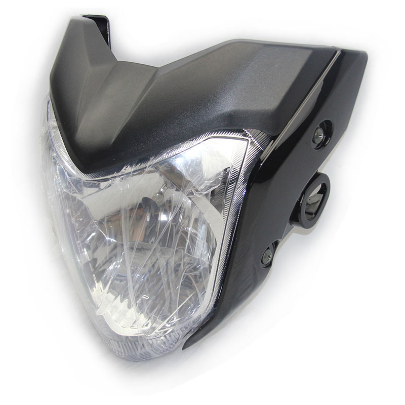 KINGMOTO -20160219RW High Quality Black Color Motorcycle Headlight Comp with Bulb Used for FZ16 Good Performance Headlamp