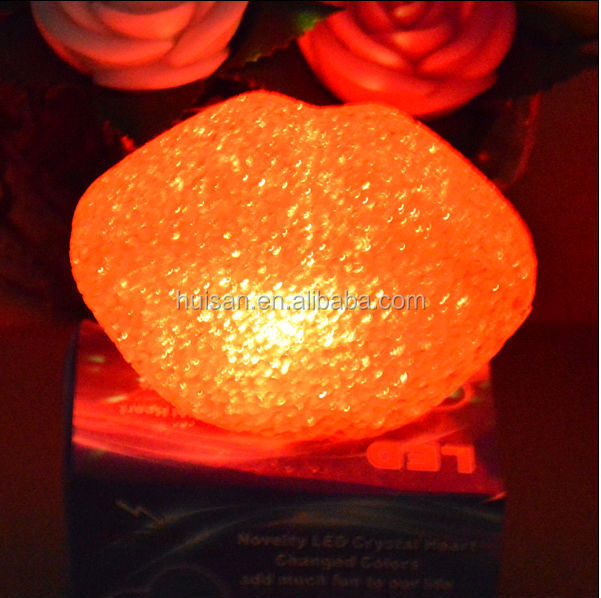 small eva material mini lips shape crystal light for party decoration/christmas decoration