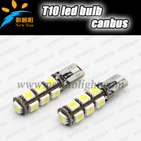 Factory wholesale 260lm T10/W5W 194 168 192 CANBUS 13 SMD 5050 Led light lamp for car accessories interior lamp reading lamp
