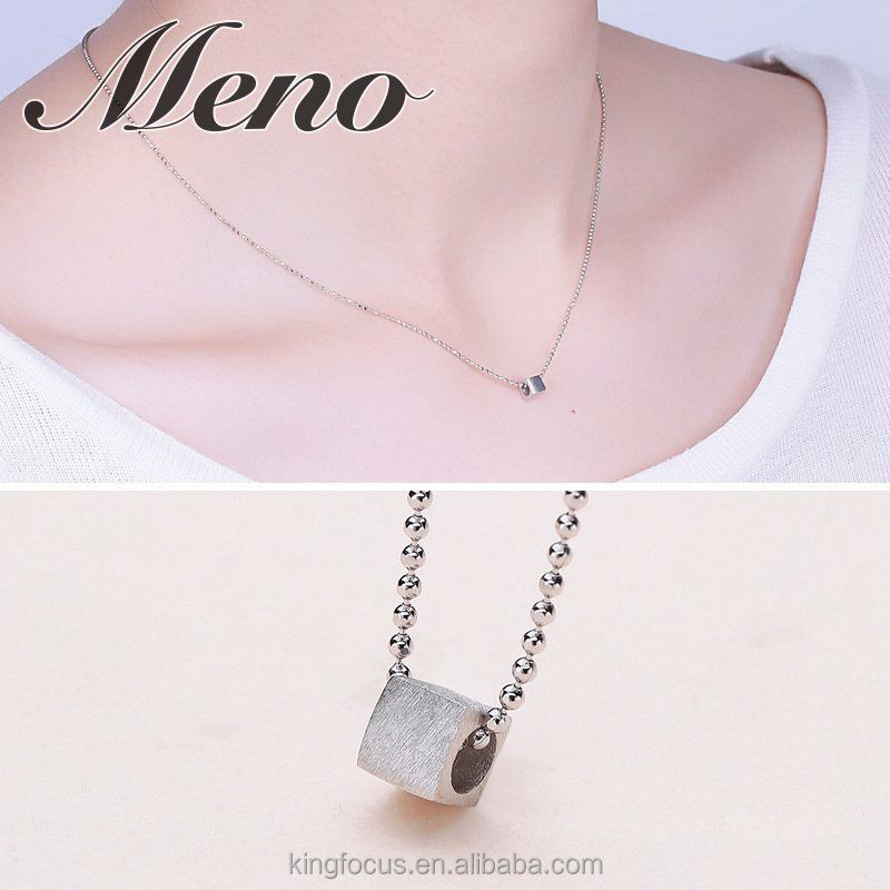 Meno S925 silver shiny ball beads necklace fashion