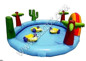 Funny inflatable water pool for water games D2042
