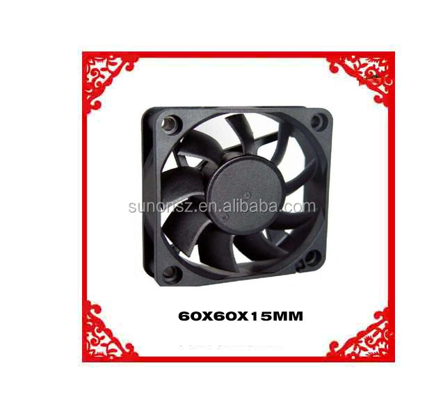 60x60x15mm DC Axial Flow Ventilator Electronic Oven Cooling Fans