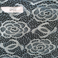 Fancy French Rose Design Nylon Spandex Lace Fabric Ready Goods