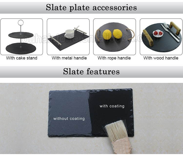 Ardoise plate tableware/slate plate,dish,placemat,tray