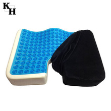 Air cooled memory foam gel seat cushion