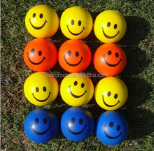 smiley PU foam stress balls smile face