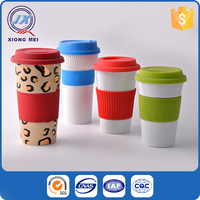 Cheap price personalized painted porcelain insulated mug for children
