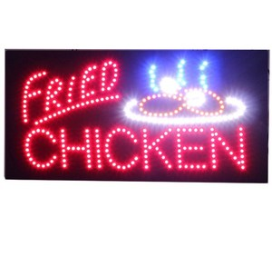 FRIED CHICKEN Food Shop Advertising Usage LED Open Sign