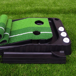 Indoor and Outdoor Mini Golf Putting Green with Ball Auto Return 250 cm and 300 cm Golf Practice Putting Mat