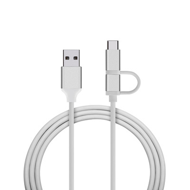 2019 New Durable and Environmentally Aluminum Alloy USB Data Cable 2 in 1 Type <strong>c</strong> Usb Cable