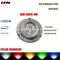 LED SS316 Marine Lighting fixture 9W underwater LED lights IP68 underwater led boat light