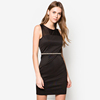 New arrival women bodycon dress custom made mini dress OEM service pencil dress with lace D078
