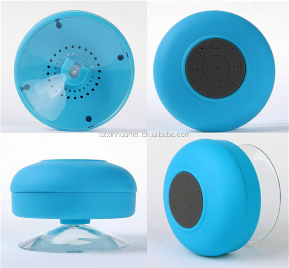 Waterproof bluetooth speaker with suction cup, shower speaker form Original Manufacturer-Shenzhen Xinhuamei Electronics Co., Lt