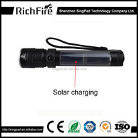 outdoor camping Solor rechargeable Powered LED Flashlight with USB Port