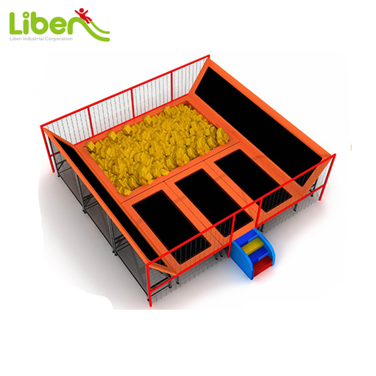 Indoor Sport Play Trampoline with Foam Pit Fitness Trampoline