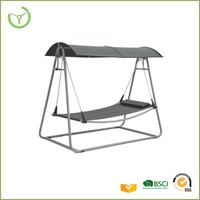 2016 metal textiline outdoor swing bed adult swing set