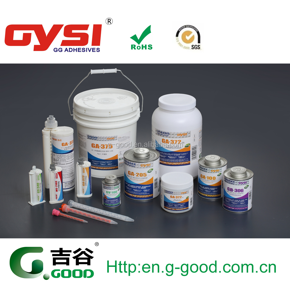 acrylics / pmma / plastics and metals shadowness adhesive without uv curing