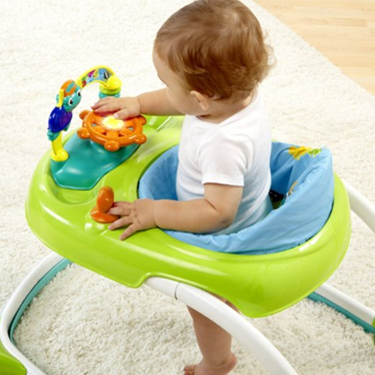 China Factory Customized Baby Vehicle Set Toy Plastic Baby Walker with Music Play