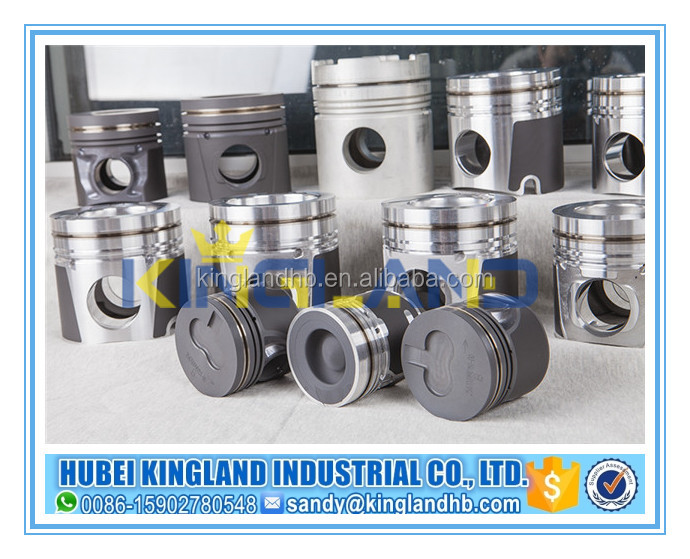 ISF2.8 3 rings dia 93.89mm length 76mm Alfin,inner-cooling gallery cool diesel engine ISF2.8 piston kit 4995266