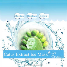 Natural Mexico Cactus Extract With Ice Crystal Deep Moisturizing Face Mask Wholesale