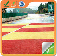 Color asphalt coating micro overlay asphalt pavement