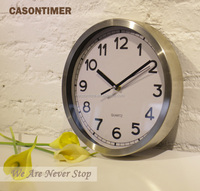 Decorative round metal diy wall clock made in China