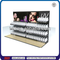TSD-A161 custom retail 3 tier acrylic nail polish display shelf,furnitures for cosmetic display, opi nail polish display rack
