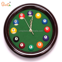round funny home decor wall billiard clock