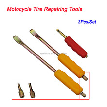 3 Pieces Fine Crowbar Tire Repairing Tools Set For Motorcycle Bike Electric Motorcar Alloy Steel