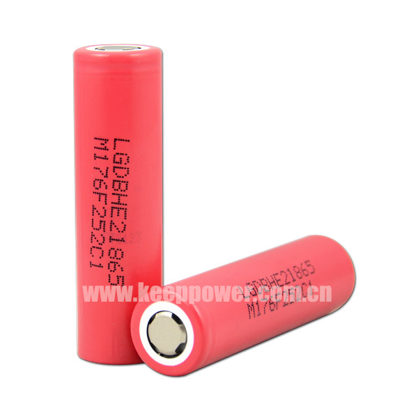 New design 18650 high discharge rate battery cells 35A battery LG 18650 2500mah battery with flat top