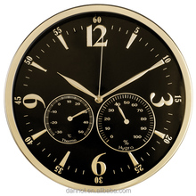 Dannol 12 inch Chinese analog antique home decor metal wall clock