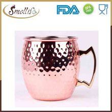 Custom Wholesale moscow mule 100% copper mug with handle