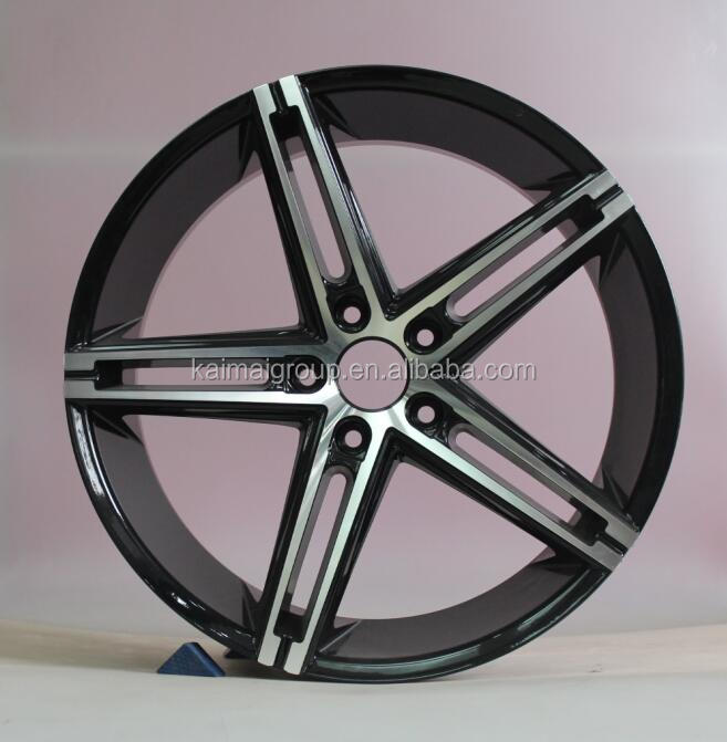 20*8.5 INCHES BLACK MACHINED FACE ALLOY <strong>WHEELS</strong> FOR AUTO