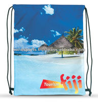 Custom sublimated drawstring bags
