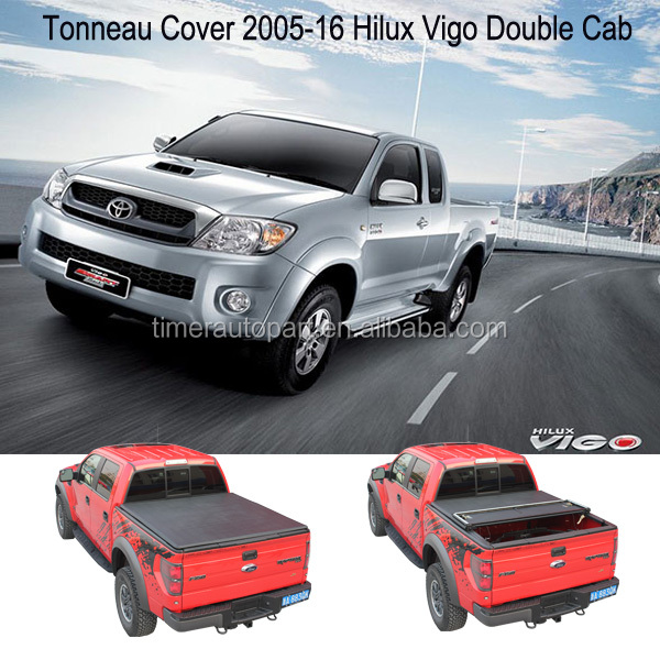 2005-16 Hilux Vigo Double Cab Folding pickup tonneau covers