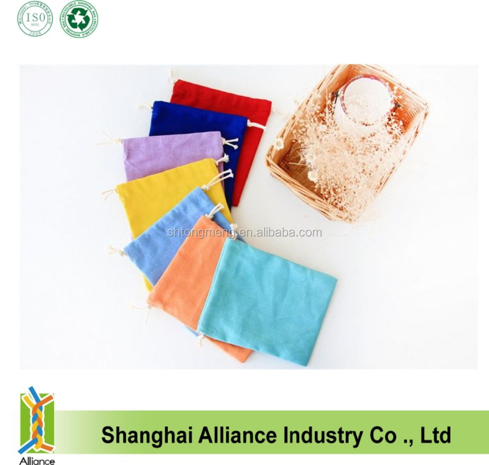High Quality Colorful Cotton Pouch, Drawstring Cotton Bags for Jewelry & Wedding gift(Z-CB-053)
