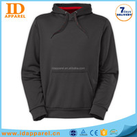 high quality black blank hoody , man hoody without zipper