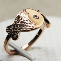 Fish Male Stainless Steel Ring