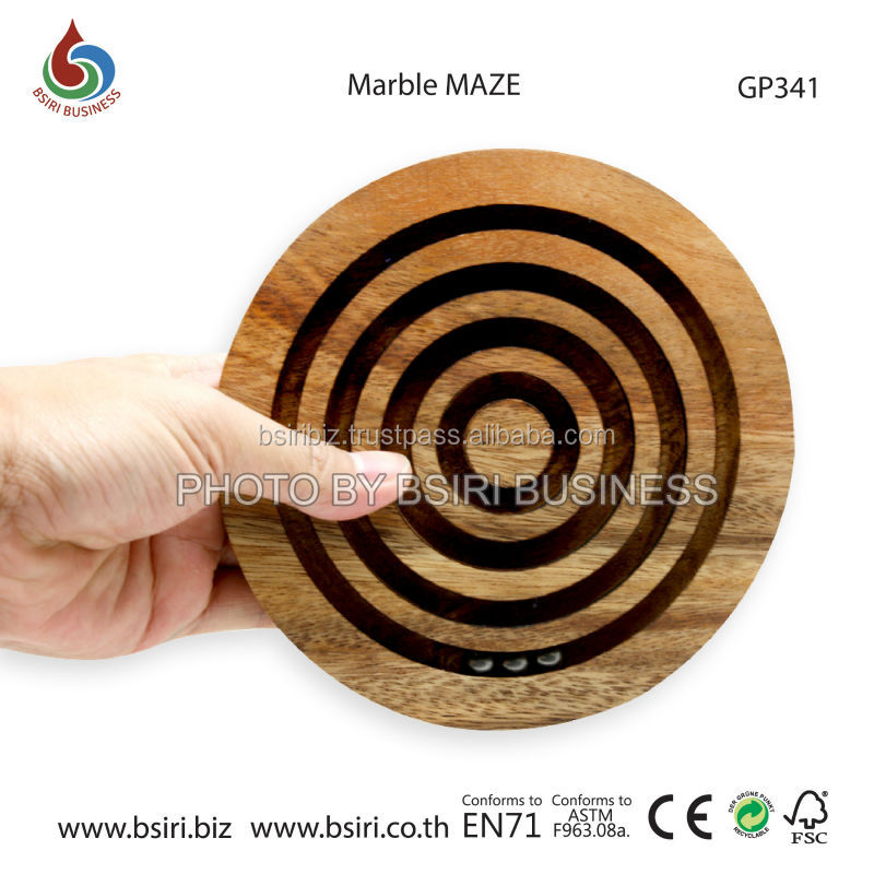 childrens wooden Marble MAZE puzzles