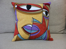 Picasso style 45*45cm embroidered sofa cushion covers mixed styles available