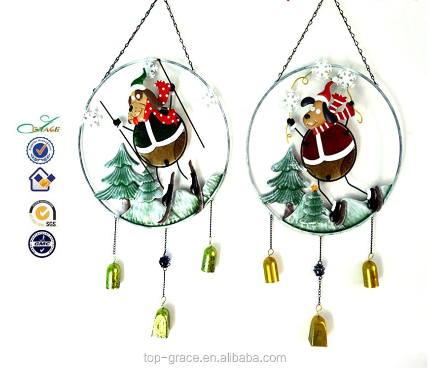Christmas Figurine Decorative Metal Wall Hanging for Decoration