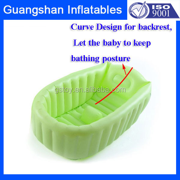 Care baby PVC inflatable portable baby bath tub