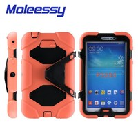 Hybrid kids tablet case with handle for Samsung Tab3/P3200/3201